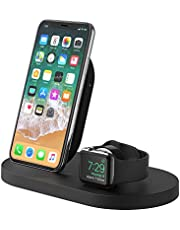 Save on Belkin Boost Up Wireless Charging Dock for iPhone + Apple Watch + USB-A Port (Wireless Charger for iPhone XS, XS Max, XR, X, 8/8 Plus, Apple Watch 4, 3, 2, 1)