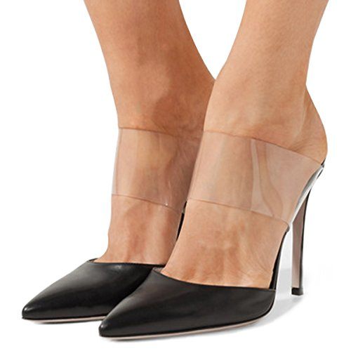 cheap sale purchase FSJ Women Strappy Stiletto High Heels Clear Sandals Pointed Toe Sexy Party Shoes Size 4-15 US Black buy cheap enjoy cheap sale shop offer buy online with paypal sOUzS01Ib