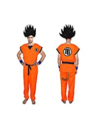 Unisex Child Dragon Ball Z Son Goku Cosplay Costume Kids Halloween Kung Fu Suit