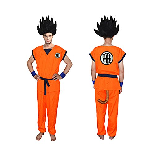 UU-Style Unisex Adult and Child Halloween Costume Son Goku Suit Outfit Cosplay Costume Kids Halloween Kung Fu Outfit (165-180CM, Roshi) ()