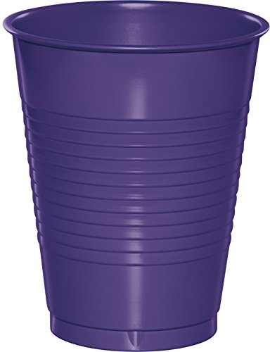 Creative Converting 28115081 20 Count Touch of Color Plastic Cups, 16 oz, Purple -