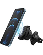 Ringke Power Clip Air Vent Car Phone Holder Mount Double Knob Space Saving Technology Premium Magnet Universal Dashboard Stand 2 in 1 Package
