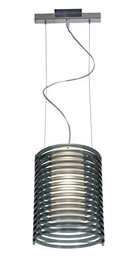55525-CH/ASM Chrome Pendant with Smoked Acrylic Glass Enzo Access Lighting 55525-CH/ASM
