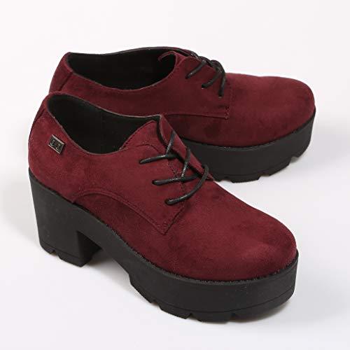 NANY Mujer Plataforma Coolway Zapato Burdeos pFtqPw