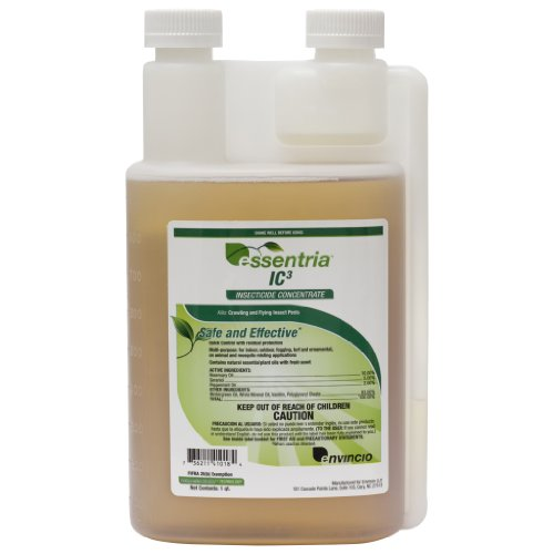 Bed Bug and insect killer, Pro grade, organic and EPA compliant botanical insecticide … Essentria IC3 Concentrate, 32oz Quart makes 8 gallons