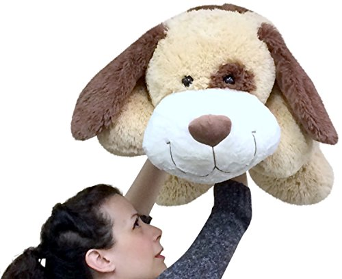 Jumbo Stuffed Puppy Dog 36 Inches Wide Big Plush Soft Adorable