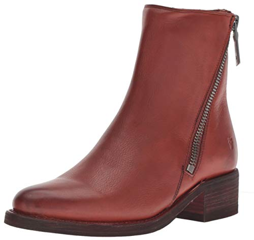 FRYE Women's Demi Zip Bootie Ankle Boot, red Clay, 7 M US