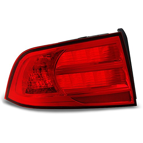 Acura TL UA6 UA7 3.2L Red Clear Tail Light Tail Lamp Rear Brake Light Driver Left Side Replacement