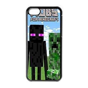 LJF phone case iPhone 5C Phone Case Minecraft F5G7703