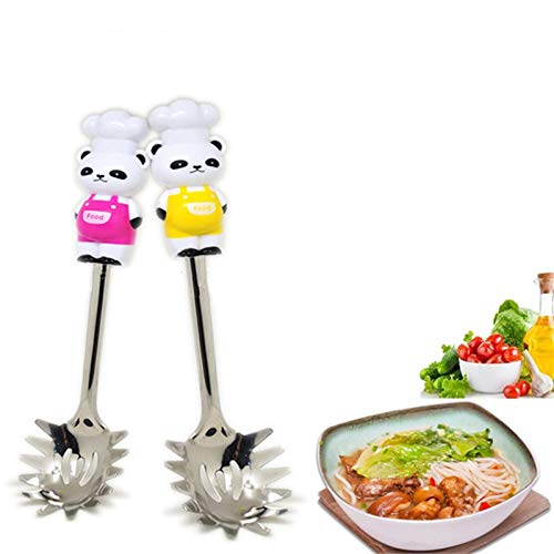 Pasta Cheese - 1pc Cute Cartoon Bear Stainless Steel Spaghetti Spoon Pasta Server Serving Spoons Utensil 1b - Cheese Wheel Sauce Pasta Storage Grater Utensils Manufacturing Utensil