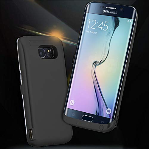 [Galaxy S6 Edge Plus Battery Case] 5200mAh External Rechargeable Backup Battery Back Bumper Protection Case Cover Power Bank for Samsung Galaxy S6 Edge+ SM-G928V Smartphone