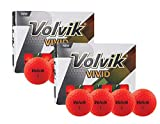 PlayBetter Volvik Vivid Matte Premium Bright-Colored Golf Balls | Multi-Packs (Red, Two Dozen (24 Balls))