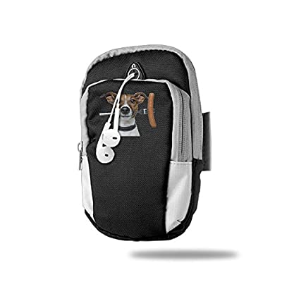 Nkjisa Unisex Dog & Hot Dog Casual Sporting Armband For Card Key Black