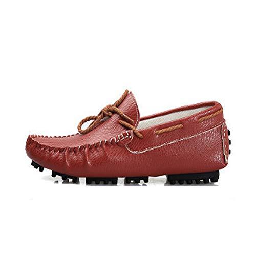 EU Guida Boat Dimensione Durevole Shoes Antiscivolo on Jincosua Men Scarpe Slip for Rosso Mocassini da Colore 44 Traspirante PEURwqa