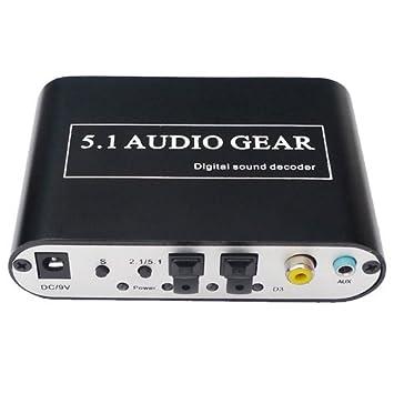 IK-51A Convertidor Digital Audio Converter 5.1 / 2.1 canales de sonido envolvente de audio