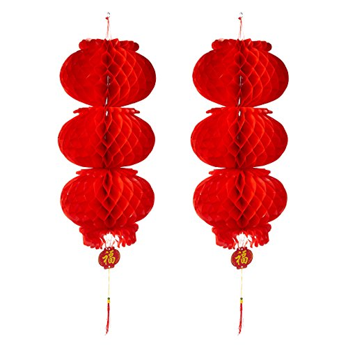 2-Piece-Chinese-Lanterns-Red-Hanging-Chinese-Decorations-for-Lunar-New-Year-Spring-Festivals-or-Celebrations-108-x-357-Inches