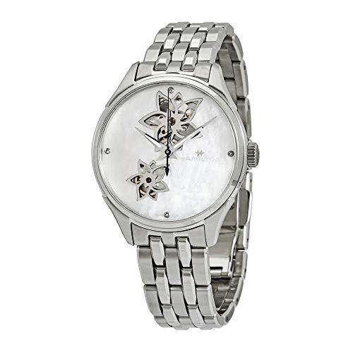 Hamilton Jazzmaster Open Heart Automatic MOP Diamond Dial Ladies Watch H32115192