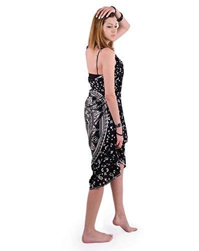 Sarong In Abito Estivo Da Bohemien Bikini Coperta Mandala Sciarpa Arazzo Costumi Nera Attaccapanni Copri Piscina Bagno Spiaggia Pareo Fascia O5HtwHq