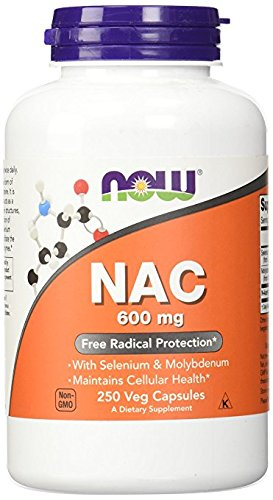 NOW Foods Nac-Acetyl Cysteine 600mg, opQdc 2Pack (500 Vcaps Total)