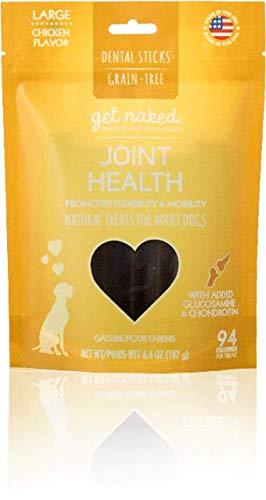 6.6oz Large Get Naked Grain Free Dog Treats (Joint Health, 6.6oz Large)