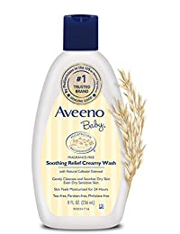 Aveeno Baby Soothing Relief 24 Hour Moisture Creamy Wash, 8 fl. oz. BOBEBE Online Baby Store From New York to Miami and Los Angeles