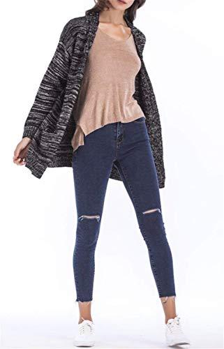 Autunno Maglia Qualità Lunga Manica Invernali Schwarz Calda Women Giacca Pullover Di Cappotto Casual Vintage A Fashion Giovane Alta Eleganti Donna Cardigan 154np8qw