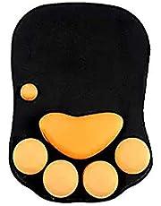 وسادة فأرة من السيليكون مريحة وناعمة للمكتب ديكور المعصم وسادة فأرة أسود