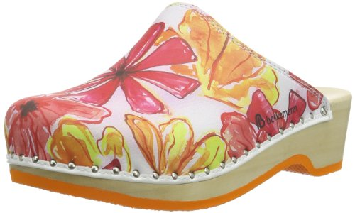Berkemann Hippie-Toeffler 00446-034 Damen Clogs & Pantoletten Mehrfarbig (rot Blumen 034)