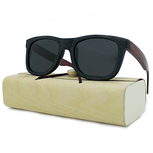 Handcrafted 100% Real Wooden Sunglasses for Men and Women, Polarized Lenses, Perfect Gift by Rooted Shade by Rooted Shade