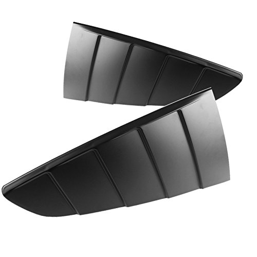 Spec-D Tuning WLUQ-MST15B-V2 Spec-D Quarter Window Louver Matte Black