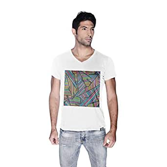 Creo Abstract 02 Retro T-Shirt For Men - Xl, White