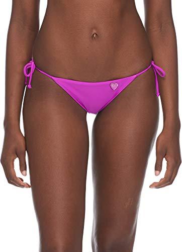 Body Glove Women's Smoothies Iris Solid Tie Side Bikini Bottom Swimsuit, Magnolia, Small