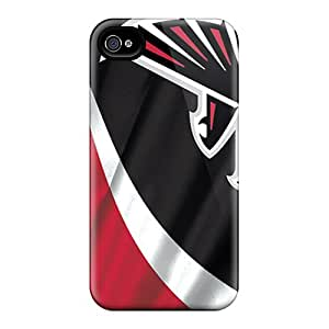 (XQwBM5806-ppH)durable Protection Case Cover For Iphone 4/4s(atlanta Falcons)