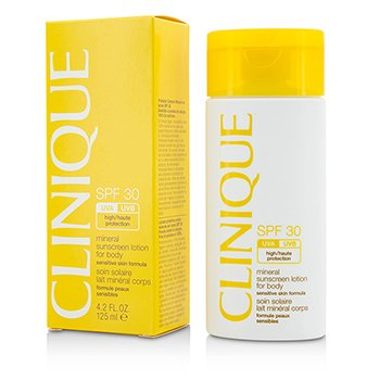 Clinique Mineral Sunscreen Lotion For Body SPF 30, Sensitive Skin Formula, 4 (Clinique Sensitive Skin Makeup)