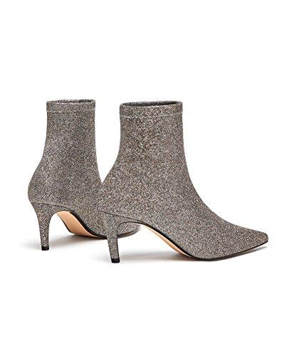 Botas Tobilleras Zara Para Mujer Con Efecto Brillante 1118/301
