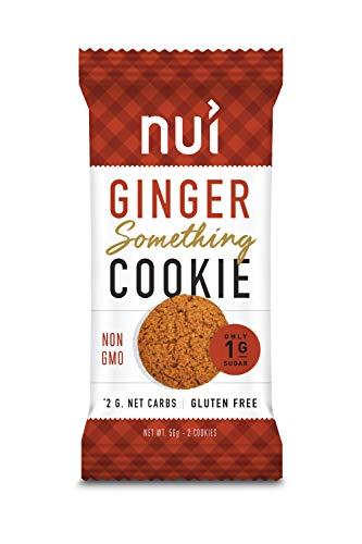 Keto Cookies, Low Carb Snacks: Ginger Something Cookies by Nui - Keto Snacks, Low Carb, Low Sugar, 2g Net Carbs, Gluten Free - 8 Pack (16 cookies)