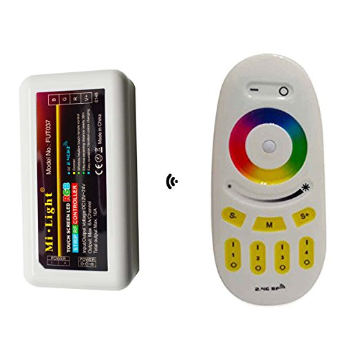 Mi light 2.4G 4-Zone RGB Controller with Dimmer Touch RF RGBW Remote Control Dimmable for RGB LED Light Strips - Multi Zone Controller