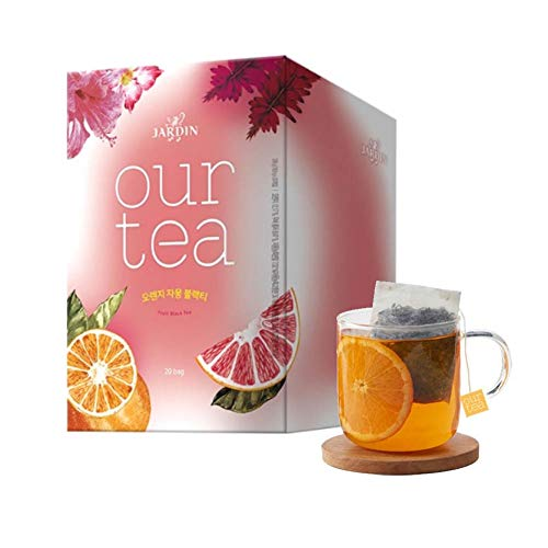 Jardin Our Tea Orange Grapefruit Earl Grey Black Tea Bags,18.9g x 20 Count]()