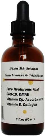 Super Intensive Anti-Aging Serum Pure Hyaluronic Acid,CoQ-10, Vitamin C, Vitamin E, Collagen and DMAE