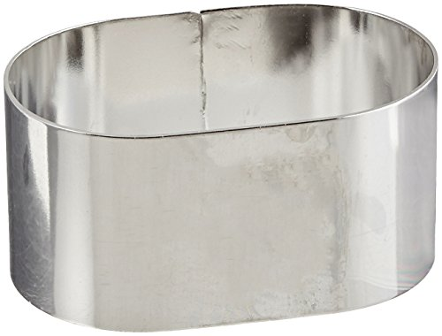 Oval Cake Ring - Fat Daddio's Stainless Steel Oval Cake and Pastry Ring, 2.75 x 1.75 x 1.375