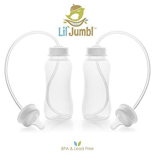 Lil' Jumbl Hands-Free Baby Bottle Feeding System, 10 oz - 4