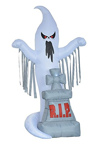 8 Foot Tall Halloween Inflatable Grave Scene with Ghost and Tombstone Party Yard Decoration (Cheap Costume Ideas Halloween)