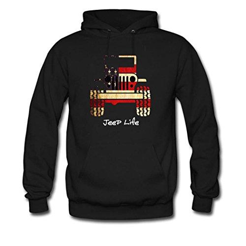 Custom Women's Jeep Girl Hoodie Hooded Sweatshirt