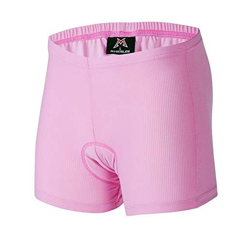 Mysenlan Women's 3D Padded Cycling Underwear Shorts Bicycle Bike MTB Under Wear Pink