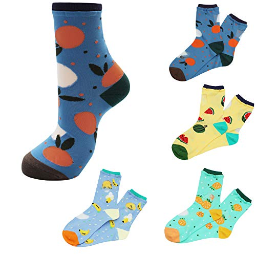 - Fishnet Transparent Socks for Women - 6 Pairs of Mesh Ankle Socks, Short Stocking, Great Lace Socks Selection Fruit A