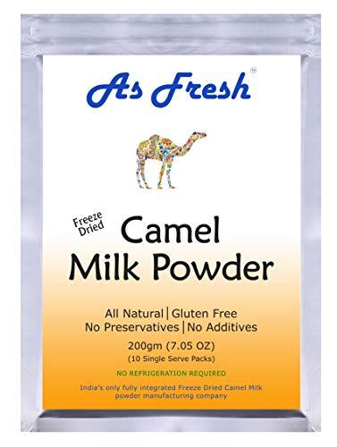As Fresh Camel Milk Powder 7oz,10 single serve sachets of 0.7 oz each, makes 70 oz camel milk