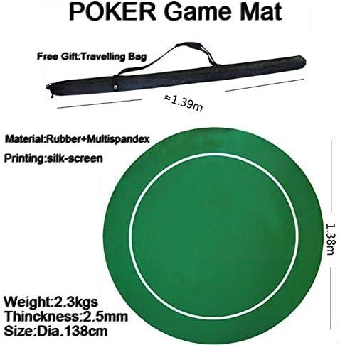 EYLIFE Kompakte Faltbare Pokerauflage professionelle Pokermatte, Pokertischauflage Faltbare Tischauflage Casino Pokertischauflage, tragbares Gummischaum-Poker-Tischlayout, Pokerspiele