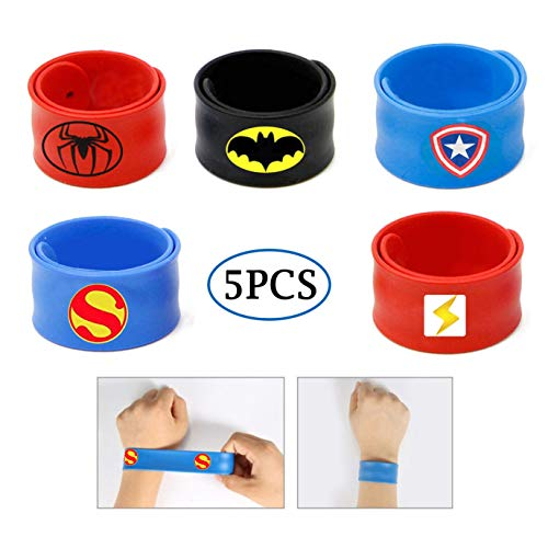 Slap Bracelets for Kids Party Supplies Favors Boy's Wristband Accessories Wrist Strap Gift Supplies (5-Pack) ()