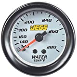 """JEGS Performance Products 41441 2-1/16"""" Water Temperature Gauge (White)"""