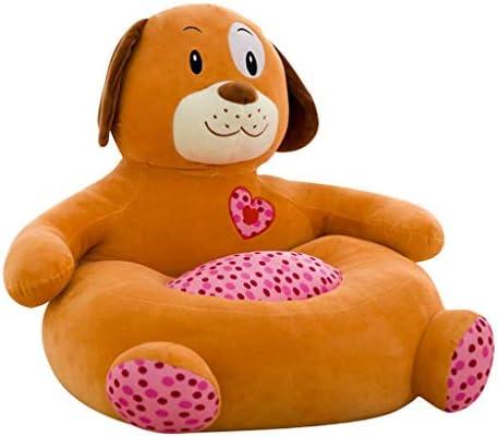 ベビーチェアカバー ソファカバー 肘掛け 動物形 子供用 ベルベット 全6タイプ - 犬